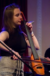 playing a Ned Steinberger electric cello with Jon Drake & The Shakes, 2011